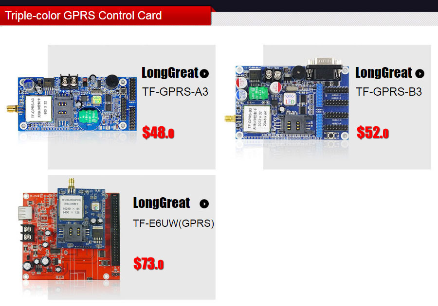 Triple-color GPRS Control Card