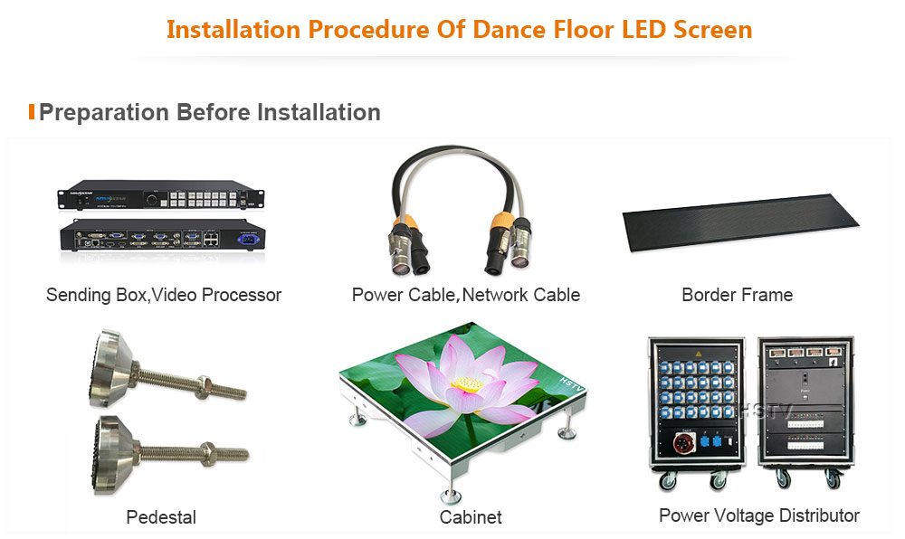 PH3.91 Outdoor SMD Dance Floor LED Screen