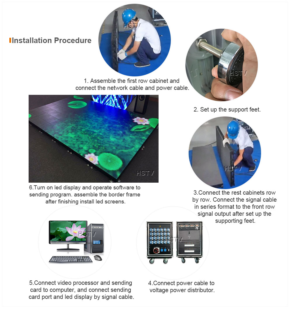 OptoKingdom Installation Procedure Of Dance Floor LED Display