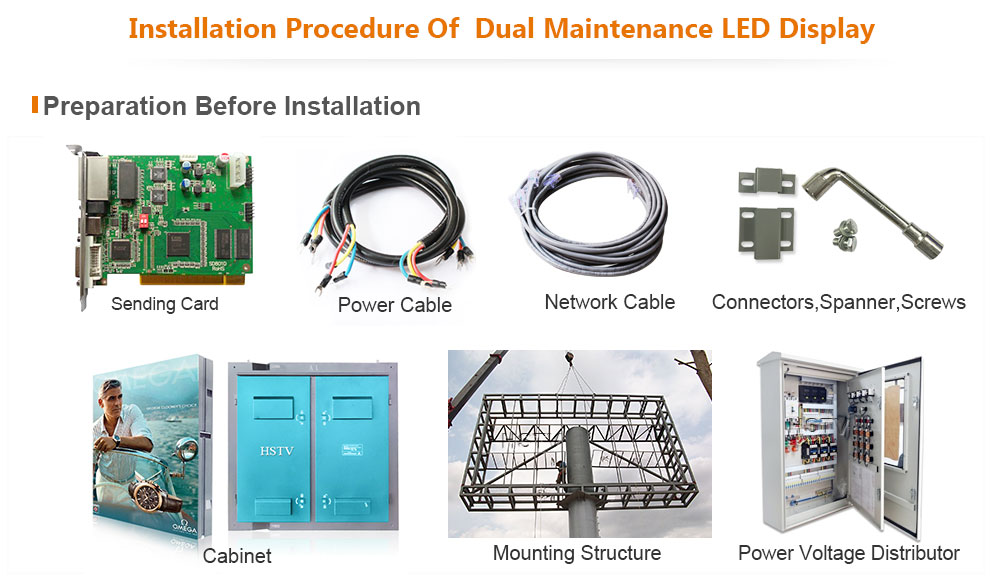 PH8 Outdoor SMD Dual Maintenance Module Full Color LED Display