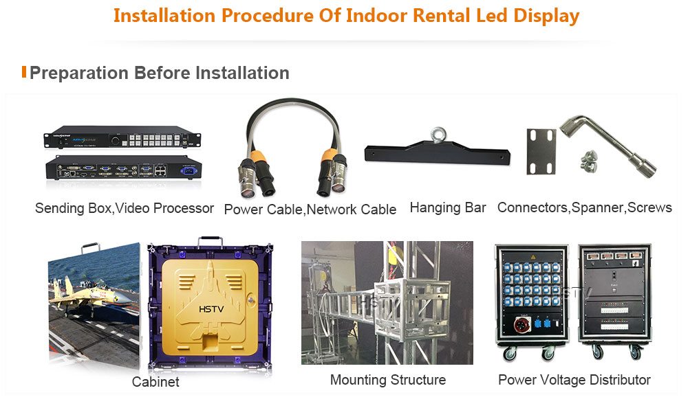 PH2.5 OptoKingdom Installation procedure of outdoor Rental led screen