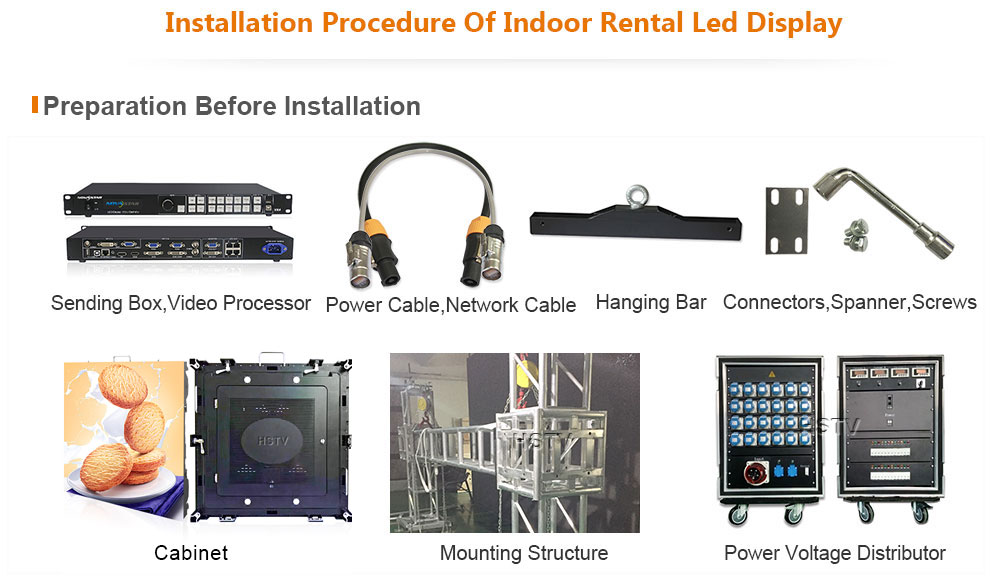 ph5 OptoKingdom Installation procedure of outdoor fixed led display