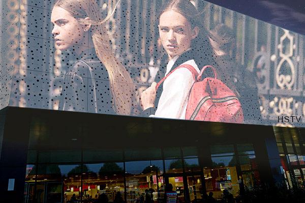 strip curtain led advertising displays
