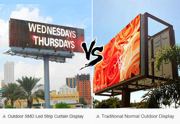 Compare with outdoor advertising screen