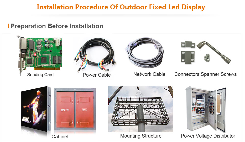 ph12.5 OptoKingdom Installation procedure of outdoor fixed led display