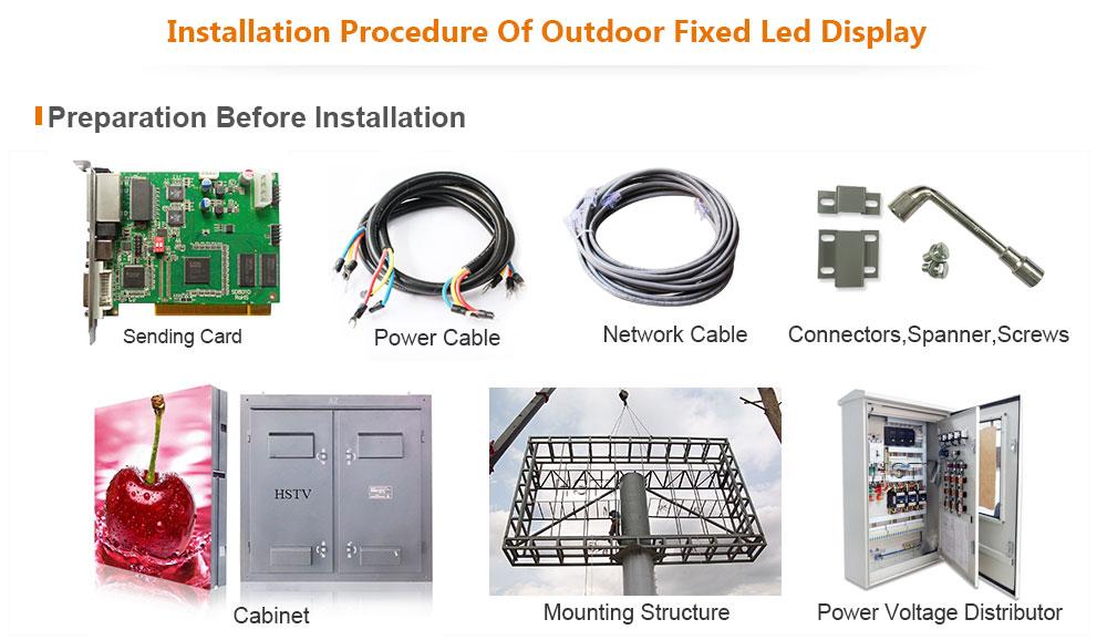 ph13.3 OptoKingdom Installation procedure of outdoor fixed led display