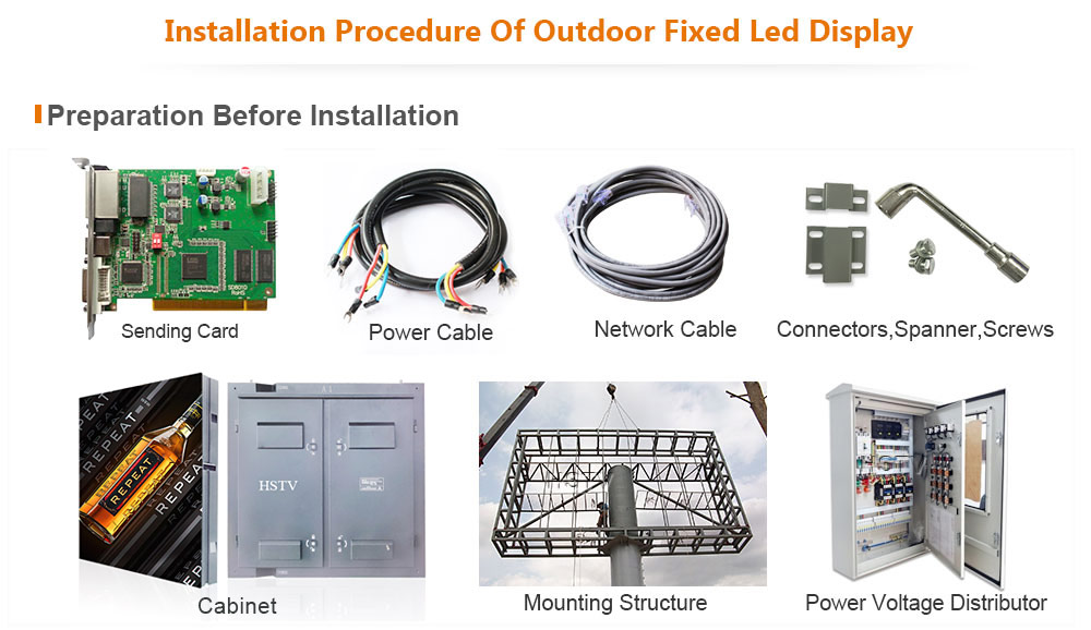 PH10 OptoKingdom Installation procedure of outdoor fixed led display
