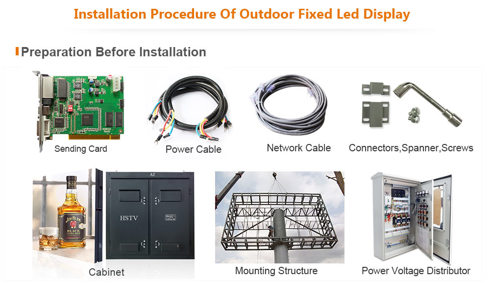 PH13.33 OptoKingdom Installation procedure of outdoor fixed led display