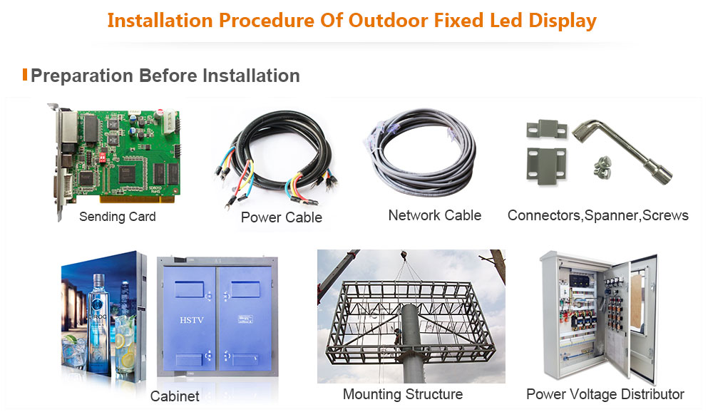 ph12 OptoKingdom Installation procedure of outdoor fixed led display