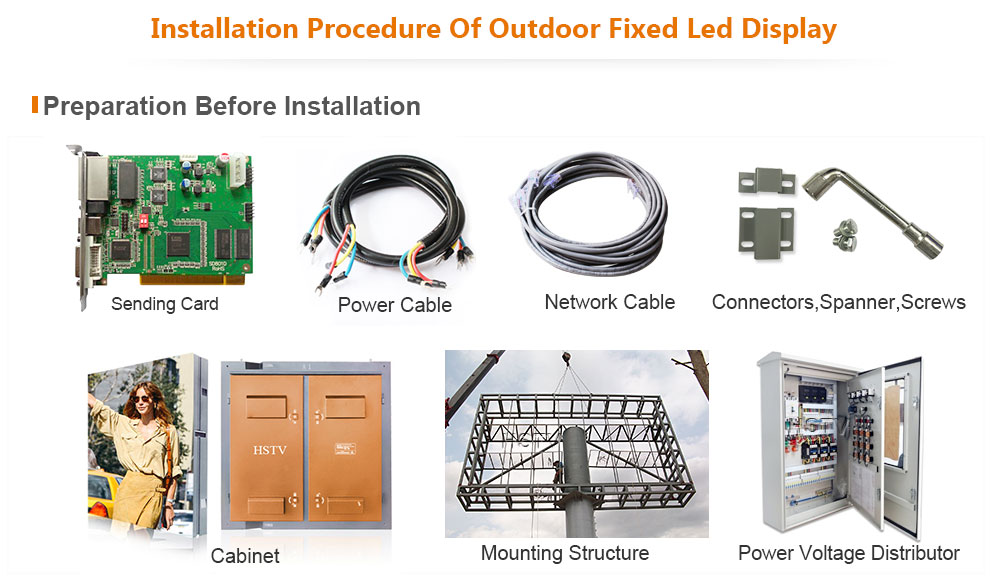 ph16 OptoKingdom Installation procedure of outdoor fixed led display