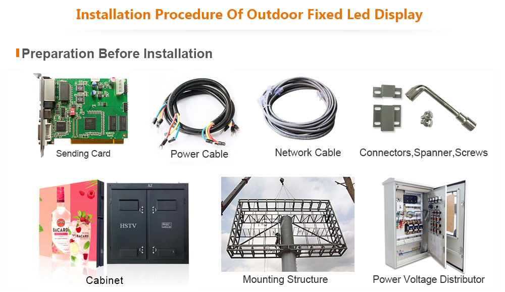 PH3 OptoKingdom Installation procedure of outdoor fixed led display