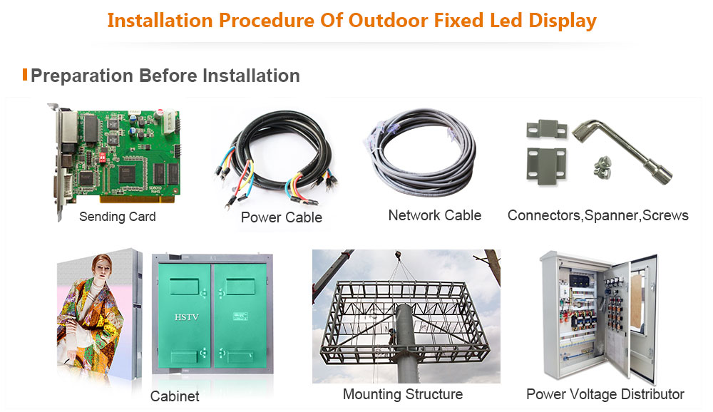 ph4.81 OptoKingdom Installation procedure of outdoor fixed led display