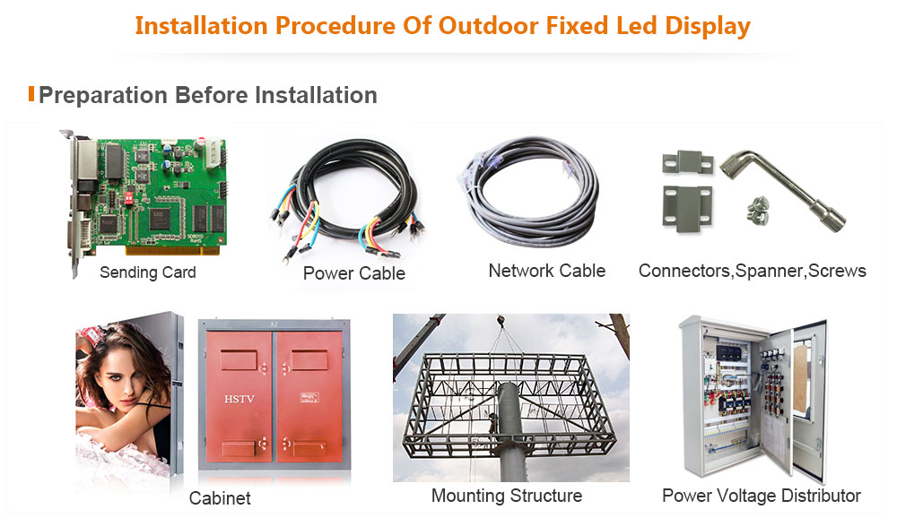 PH8 OptoKingdom Installation procedure of outdoor fixed led display