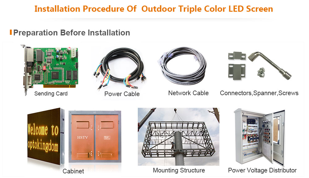 PH10 Outdoor DIP Triple Color LED Display