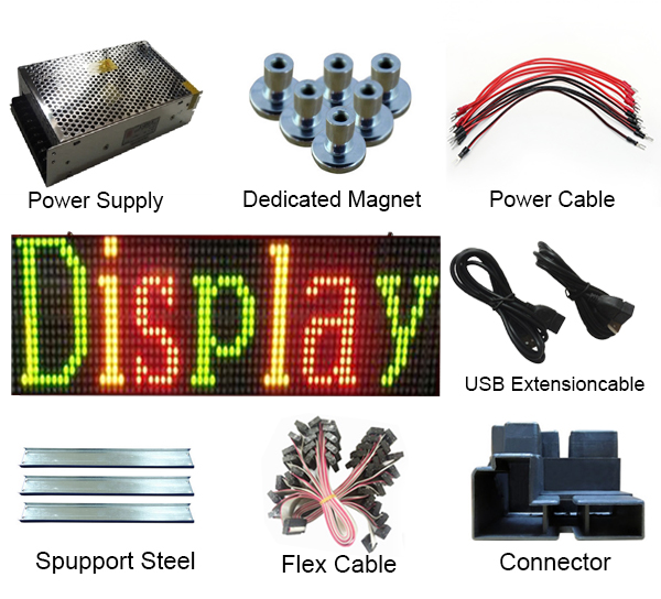 Outdoor LED message sign Modules