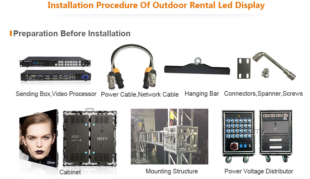 OptoKingdom Installation procedure of outdoor Rental led screen