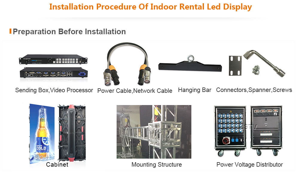 OptoKingdom Installation procedure of outdoor Rental led display