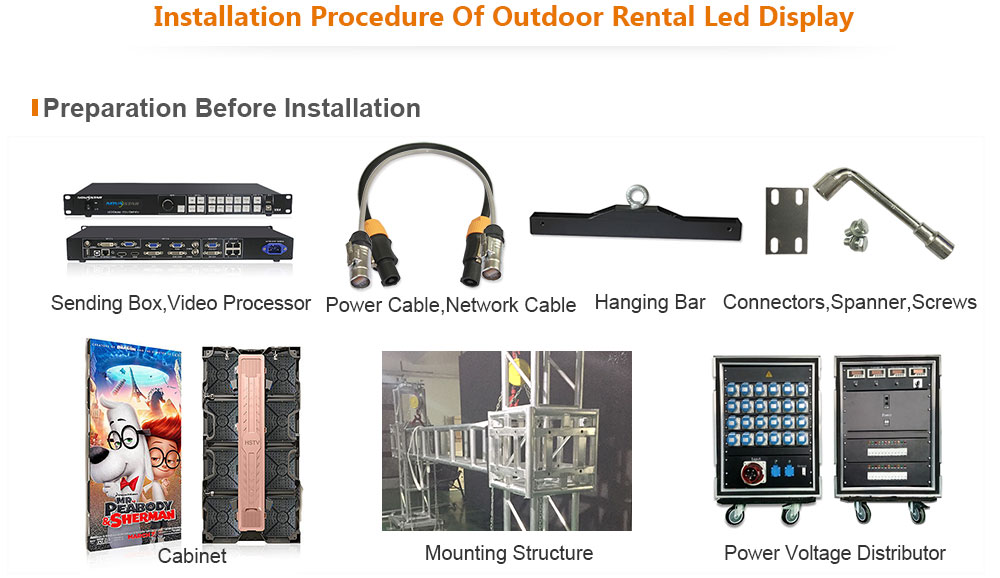 PH3.91 Outdoor Rental LED Display 500×1000mm on