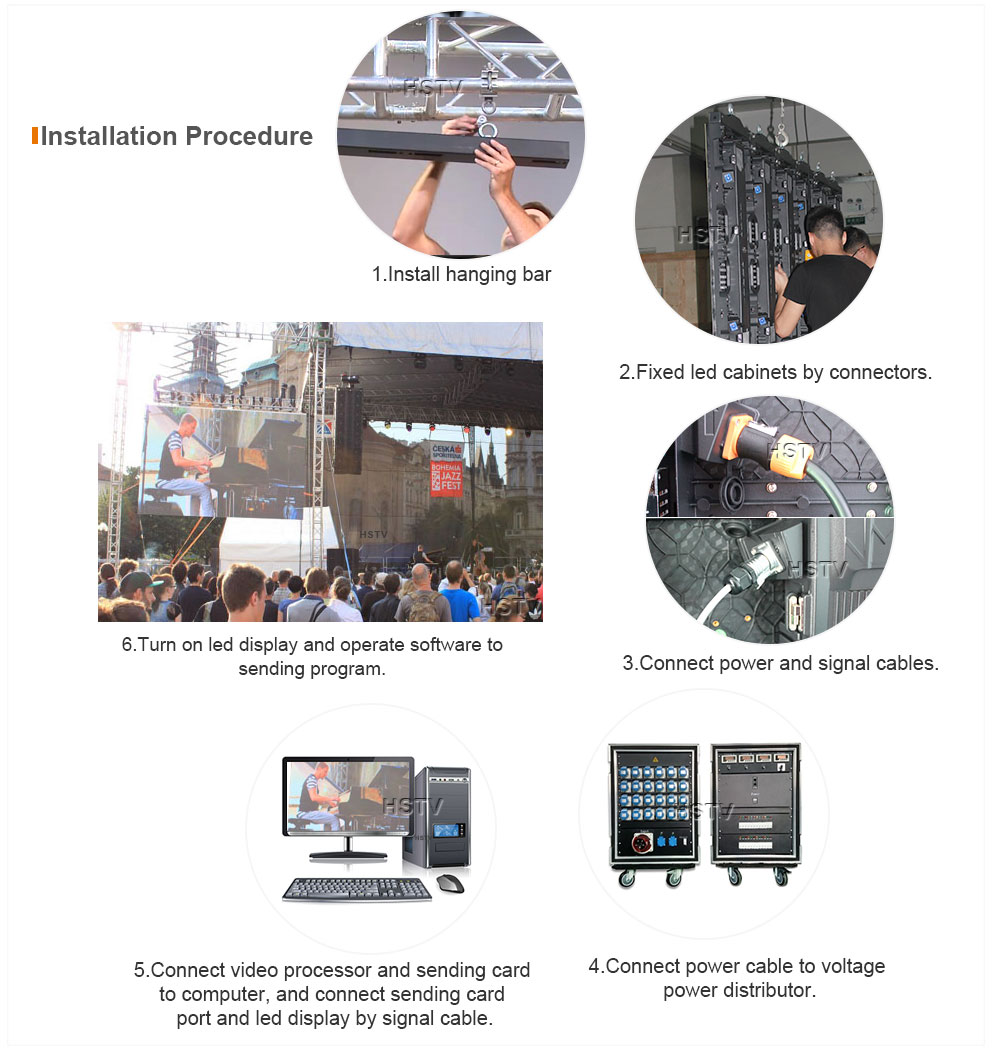 PH5.95 OptoKingdom Installation procedure of outdoor Rental led display