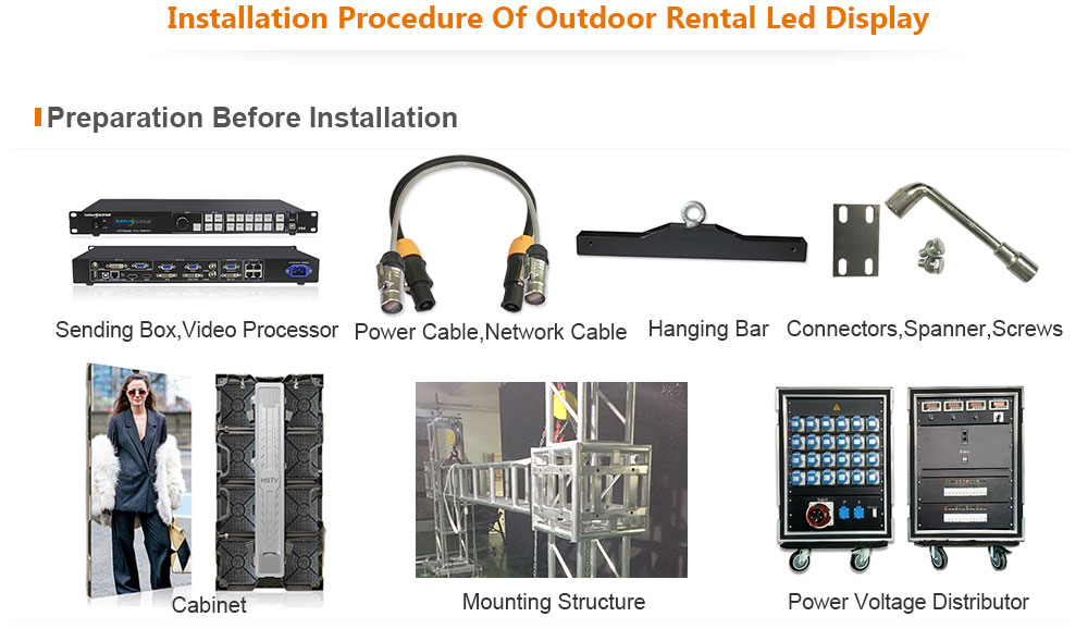 ph4.81 OptoKingdom Installation procedure of outdoor Rental led screen