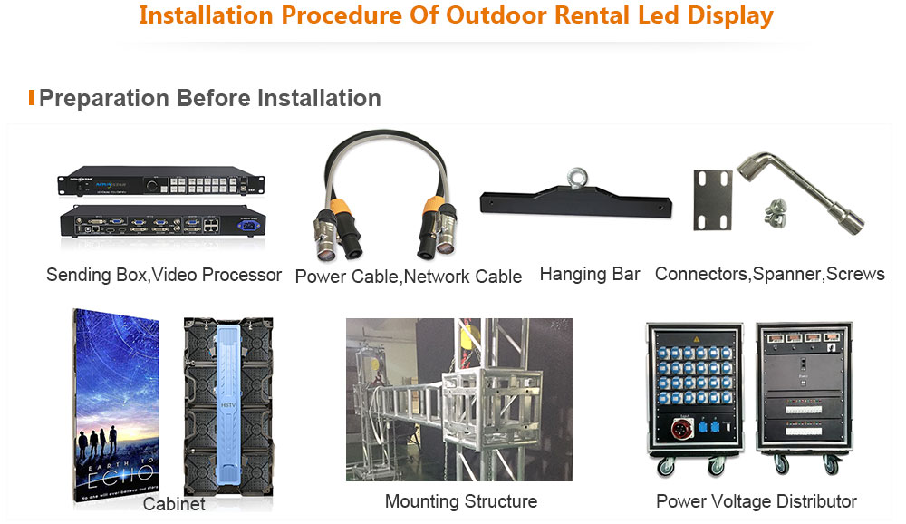 PH5.95 OptoKingdom Installation procedure of outdoor Rental led screen