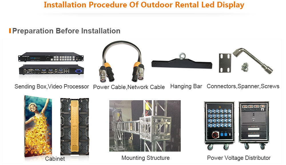 PH7.81 OptoKingdom Installation procedure of outdoor Rental led screen