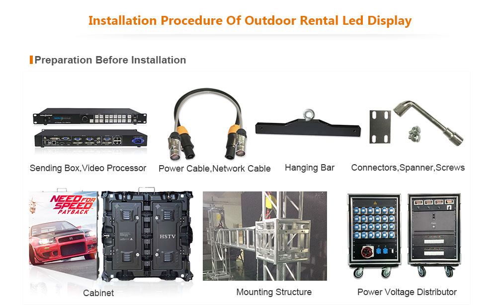 ph8 OptoKingdom Installation procedure of outdoor Rental led screen