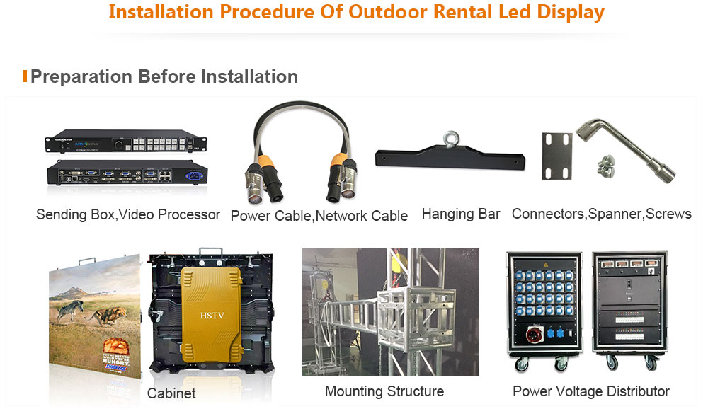 ph6 OptoKingdom Installation procedure of outdoor Rental led screen