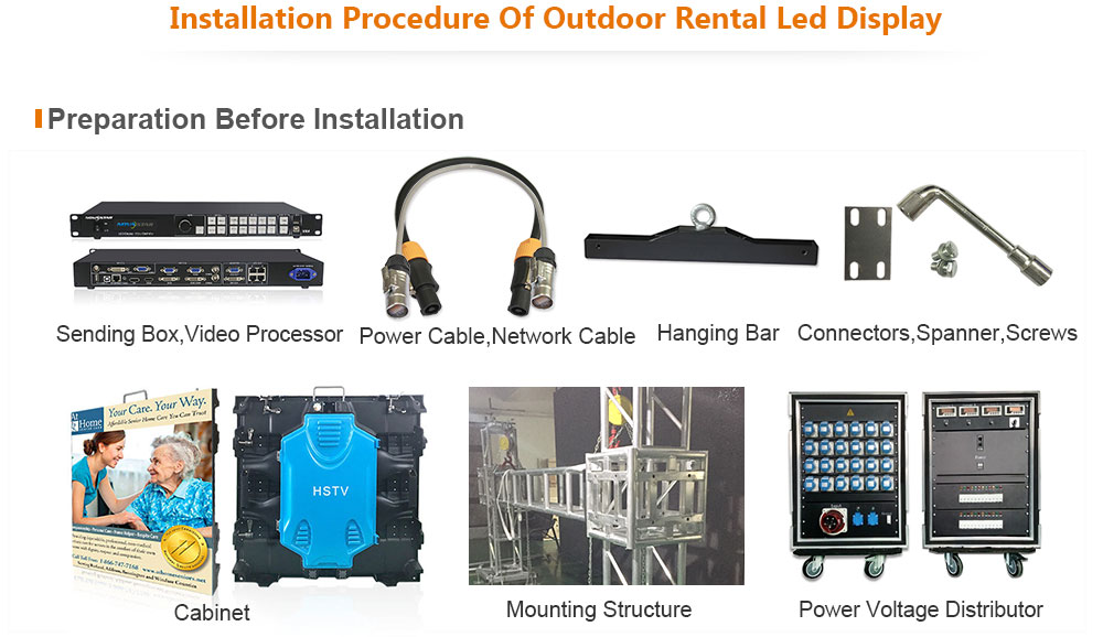 ph5 OptoKingdom Installation procedure of outdoor Rental led screen