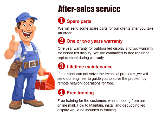 Good after-sales service