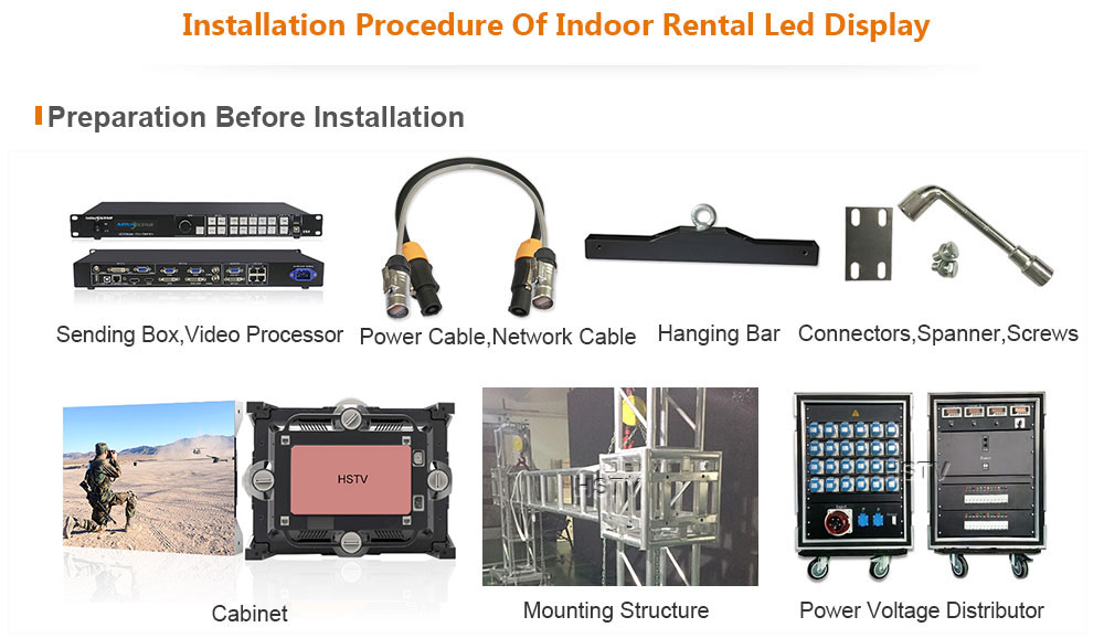 OptoKingdom Installation procedure of Indoor Rental led screen