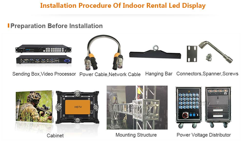 OptoKingdom Installation procedure of Indoor Rental led screen