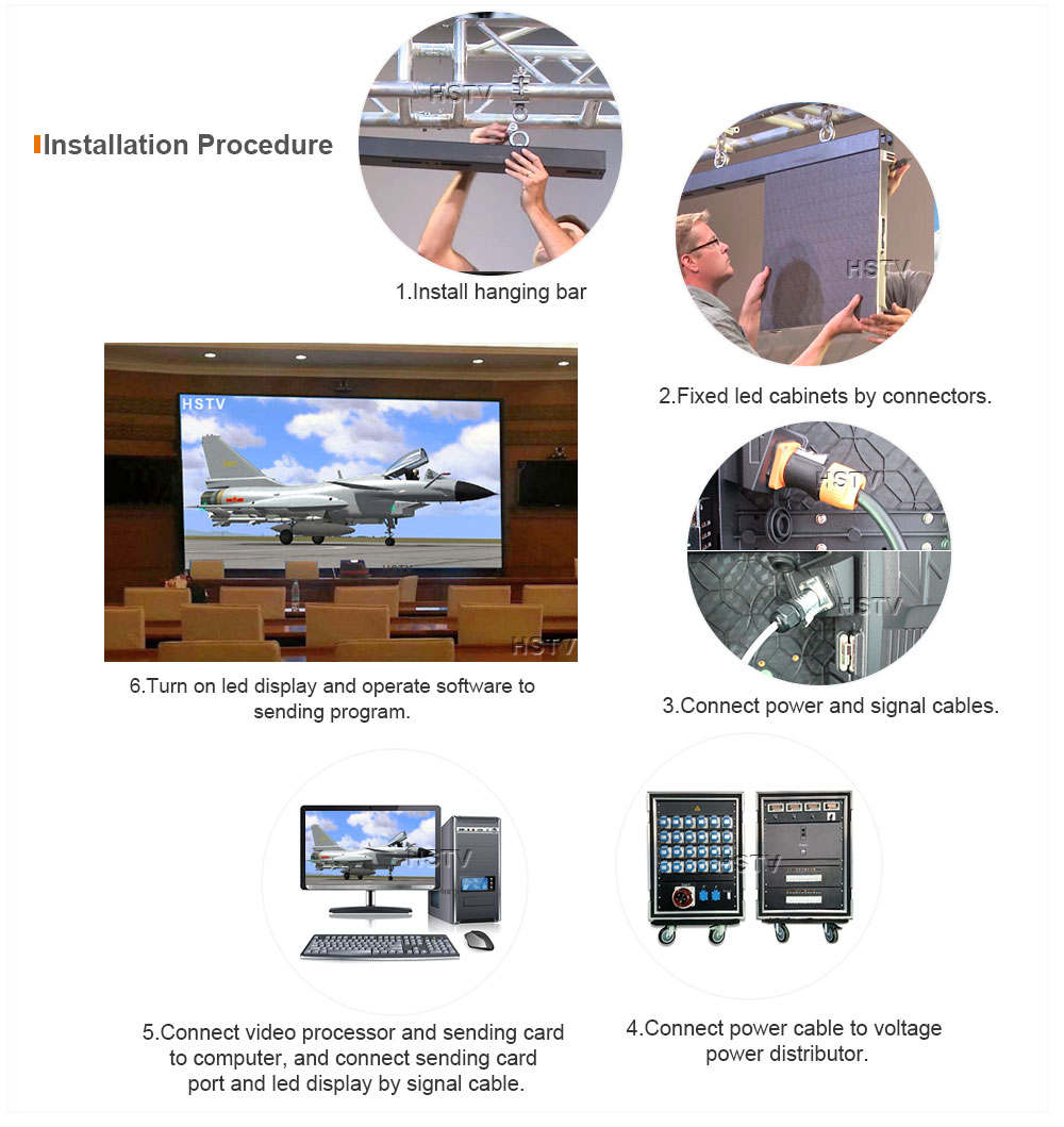 OptoKingdom Installation procedure of Indoor Rental led display