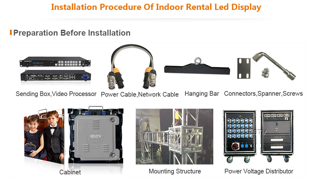 PH2 OptoKingdom Installation procedure of Indoor Rental led screen