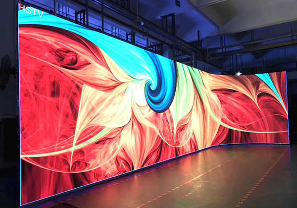 curve led screen A variety of installation methods