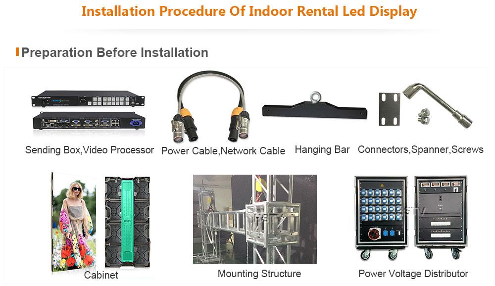 ph4.81 OptoKingdom Installation procedure of indoor rental led display