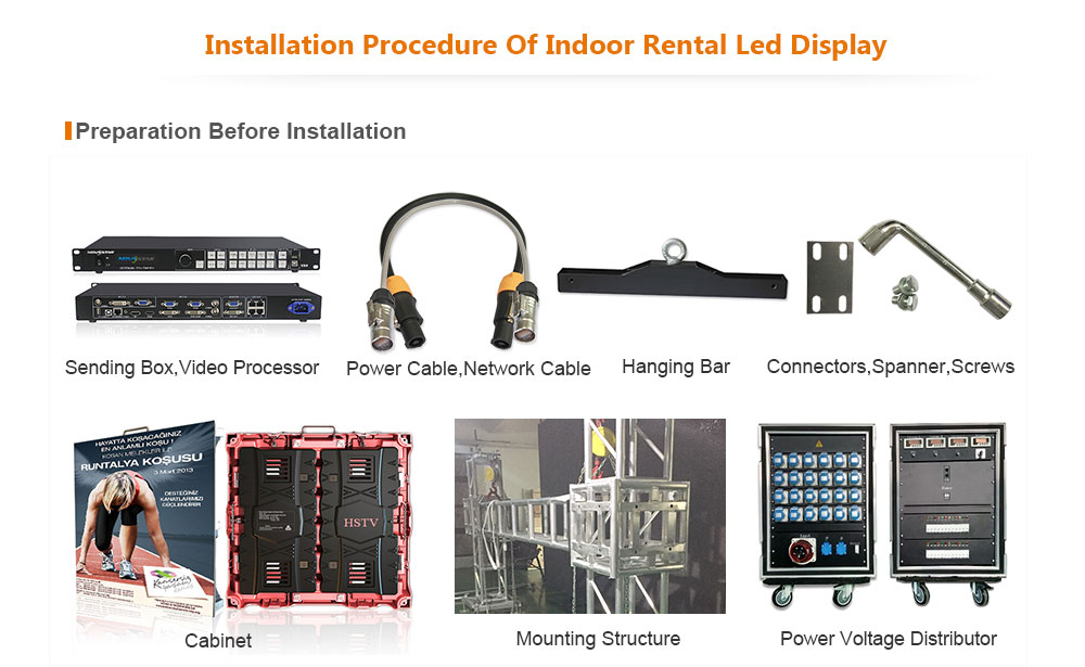 ph4 OptoKingdom Installation procedure of outdoor fixed led display