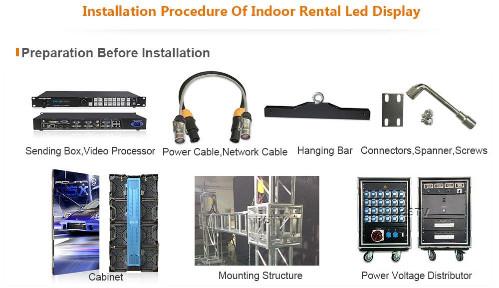 OptoKingdom Installation procedure of indoor rental led display