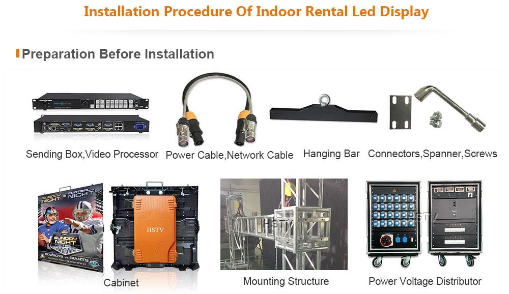 OptoKingdom Installation procedure of outdoor fixed led display