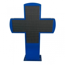 PH8 LED cross outdoor double sides full color 1180×820×100mm