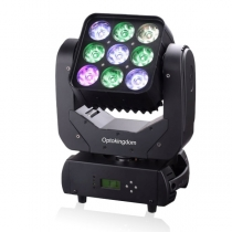 9pcs 4in1 LED Moving Head Matrix Light