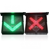 LED Red Cross Green Arrow Light