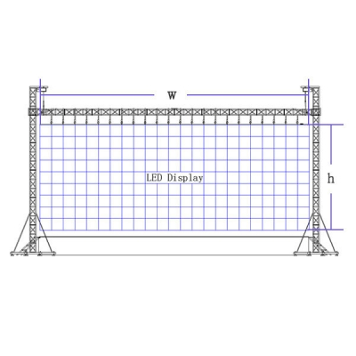 LED Display Mounting Structure 1000×1000mm