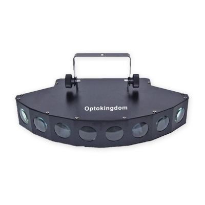 Eight eyes fan-shaped led beam light