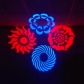 LED four colors eight gobos+Laser