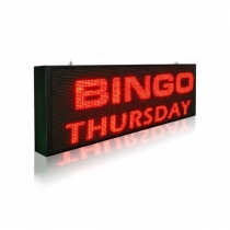 PH10 Outdoor DIP Red LED Sign 1920×320mm