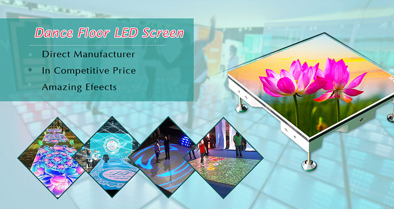 Dance floor led screen is mainly used for stage project, bar, wedding site and KTV and become more and more popular. People can walk and dance on the dance floor led screen freely due to its powerful supporting function. Amazing 3D display effect make you